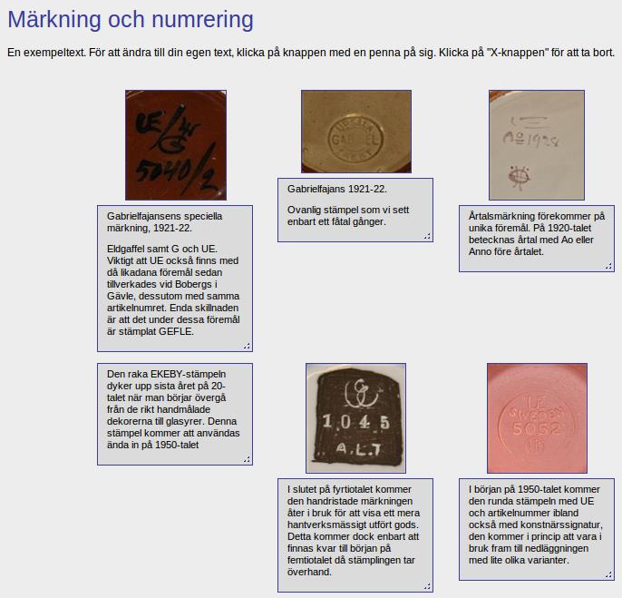dansk keramik stempler og mærker Bog om Upsala Ekeby keramik på Nettet.   Loppefund Research dansk keramik stempler og mærker