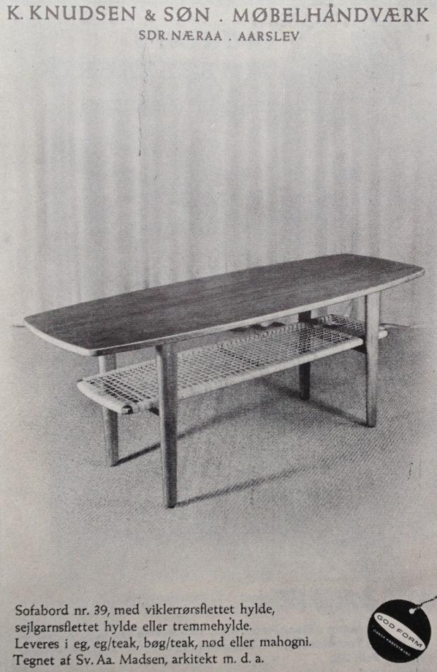 E Knudsen & Søn 1955 bord