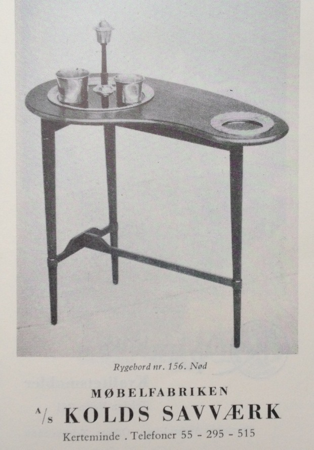 Kolds Savværk 1955 rygebord
